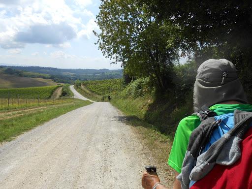 Mon ami Gérard sur la Via Francigena