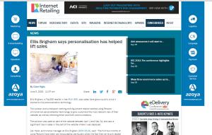 Internet Retailing - Ellis Brigham - Personalisation has helped lift sales