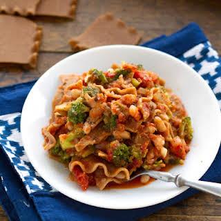 Stovetop Broccoli and White Bean Lasagna.