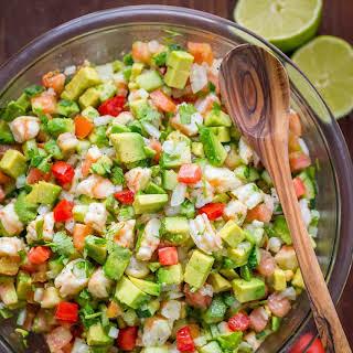 Avocado Shrimp Salsa.