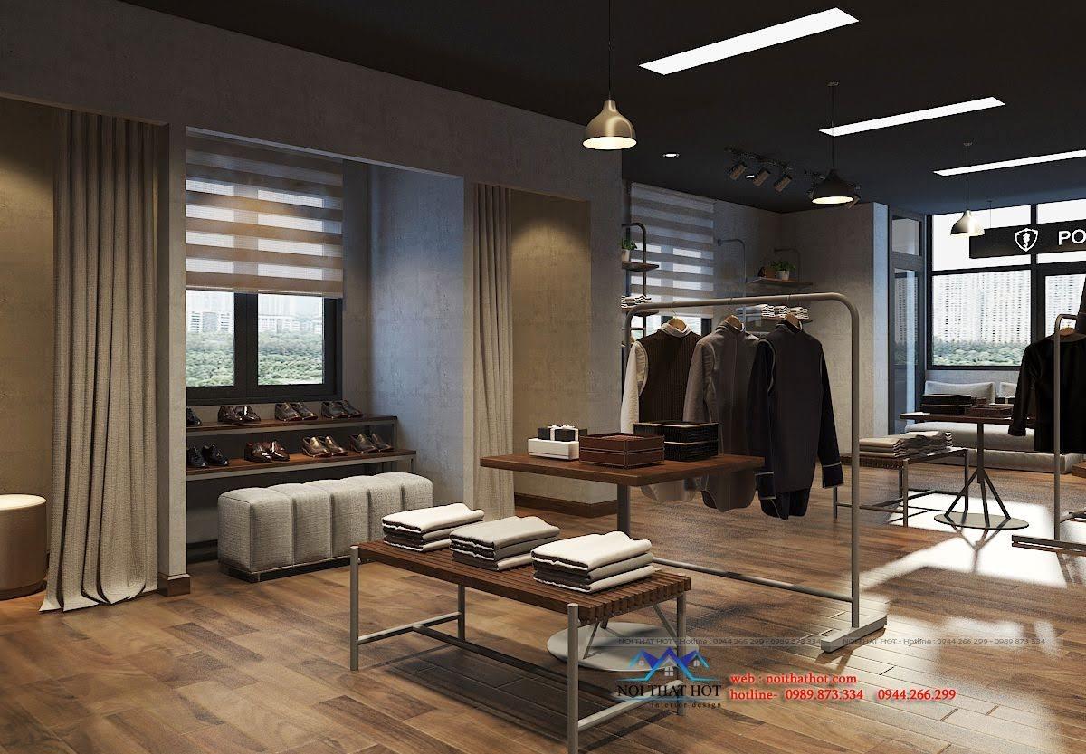 thiết kế shop thời trang nam polido 7