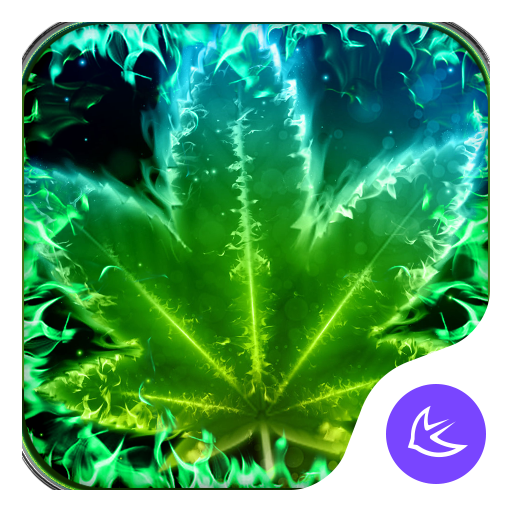 Shine Green Leaf Theme & HD wallpapers