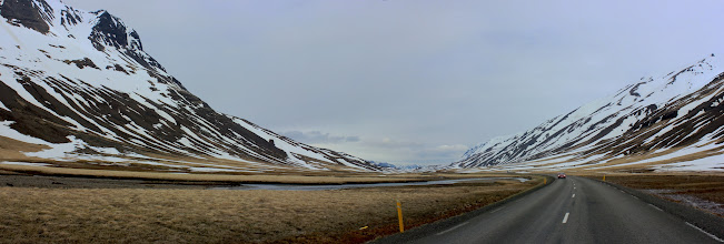 Photo: Road 1, flood basalts and snow       [Group 15]-IMG_1255_IMG_1257-3 images.jpg