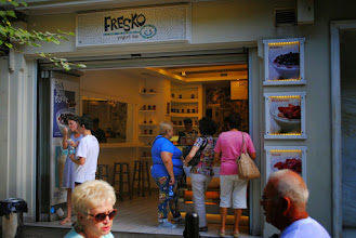 """Photo: """"JUST THE ACROPOLIS"""" tour (http://bit.ly/1rfTiDS)  MEETING POINT TO MEET YOUR GUIDE (NOTE: No office representative will be at the spot)  Our guide will pick you up from the """"FRESKO"""" Yogurt Bar located on 3, Dionyssiou Areopagitou st. which is at the beginning of the pedestrian walk way that takes you from Hadrian's Arch to the Acropolis. See meeting point photos here.  Please be at the meeting point at 11:15 am. This tour is a part of the tour """"City Tour & Acropolis"""" which starts earlier. Our guide with his/her group will come to the meeting point between 11:15am and 11:25am the latest; she or he will be holding the orange colored Athens Walking Tours sign. If you need to contact us please call us at 0030-210 884 7269.  OUR TIP: While waiting for your guide at """"FRESKO"""" it is a good idea to enjoy a fresh authentic Greek yogurt with honey or spoon sweet. It's a tasty and healthy delicacy and the right refreshment before going up to the Acropolis.  TIME: Tour starts at 11:15am - 11:25am and finishes at 12:45pm - 1:00 pm on top of the Acropolis.  DURATION: 1 hour and 30 minutes.  ENTRANCE FEES ARE NOT INCLUDED:  In the above prices entrance fees are not included (Acropolis Ticket: 12 euros, reduced 6 euros). Our guide will have the entrance tickets before hand - a service provided by us to avoid waiting in line - so please make sure you have Euro currency with you to purchase the tickets from our guide (and student ID in case you are entitled to reduced tickets or current ID to prove age for free tickets for people under 18 years)  CONTACT INFO: You can call us at +30 694 585 9662 or at +30 210 884 7269 from 7:00 am to 11:30 pm, seven days a week. For more details on our tours please visit our website: www.athenswalkingtours.gr"""