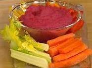 Red Beet Hummus As Appetizer Recipe