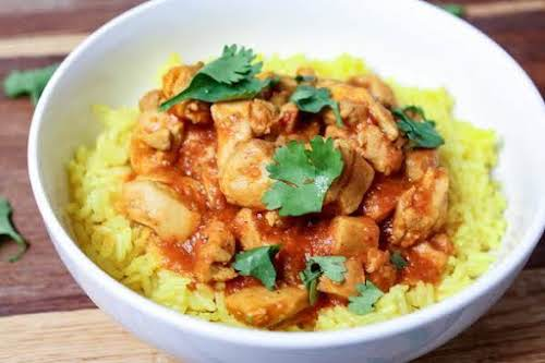 """Crock Pot Butter Chicken""""I love Indian cuisine and this was a creation..."""