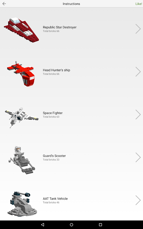 Instructions for LEGO® toys- screenshot