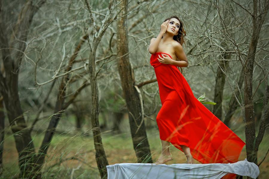 Red Angel by Budhi Rifani - People Fashion ( fashion )