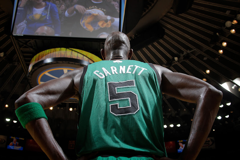 Photo: OAKLAND, CA - DECEMBER 29: Kevin Garnett #5 of the Boston Celtics in a game against the Golden State Warriors on December 29, 2012 at Oracle Arena in Oakland, California. NOTE TO USER: User expressly acknowledges and agrees that, by downloading and or using this photograph, user is consenting to the terms and conditions of Getty Images License Agreement. Mandatory Copyright Notice: Copyright 2012 NBAE (Photo by Rocky Widner/NBAE via Getty Images)