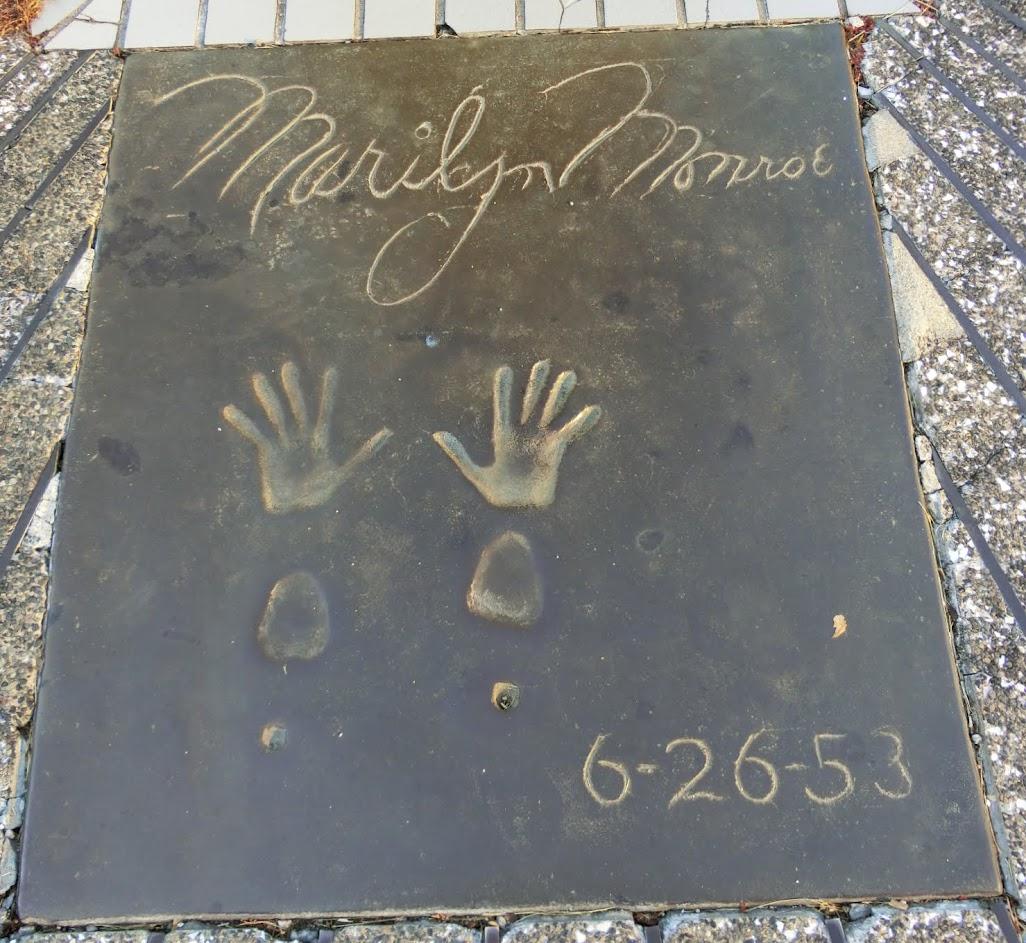 ロサンゼルス広場ハリウッドスター手形マリリンモンロー