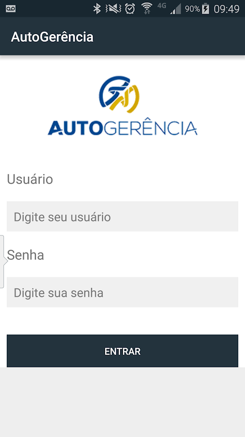 Autogerência: captura de tela