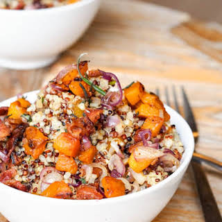Sweet Potato and Bacon Quinoa {Gluten-Free, Dairy-Free}.