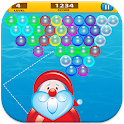 christmas bubble blast icon