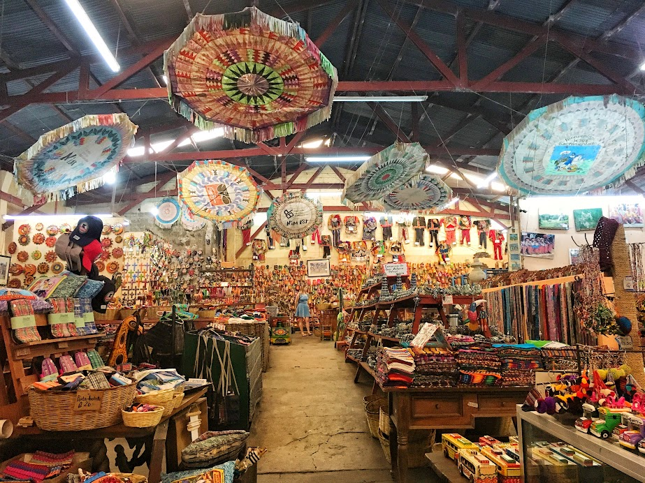 At Nimpot Export - come here to see a collection of handicrafts from all over Guatemala. A good place to get an idea of what can be found in Panajachel, Chichicastenango, etc and for what price.