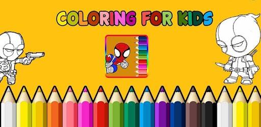 Superhero Coloring Kids Indir Pc Windows Android Purple