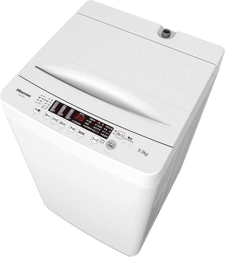 ハイセンス 全自動洗濯機 5.5kg HW-K55E