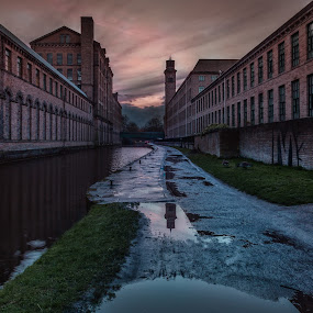 Salts Mill by the Canal by Andrew Holland - Buildings & Architecture Architectural Detail
