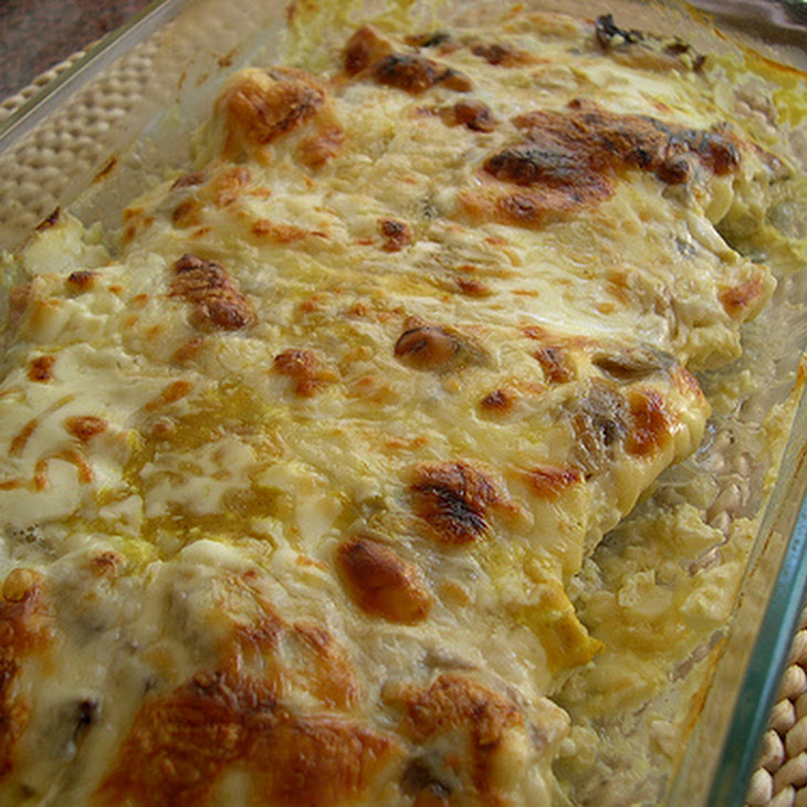 Baked Turkey Cutlets with Cheese, Cream, and Mushrooms Recipe