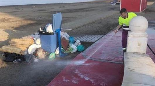 Parte de la basura recogida este lunes.