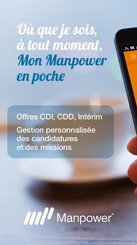 Interim et Offre d'emploi - Mon Manpower Android App Screenshot