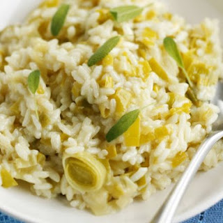 Creamy Leek and Sage Risotto.