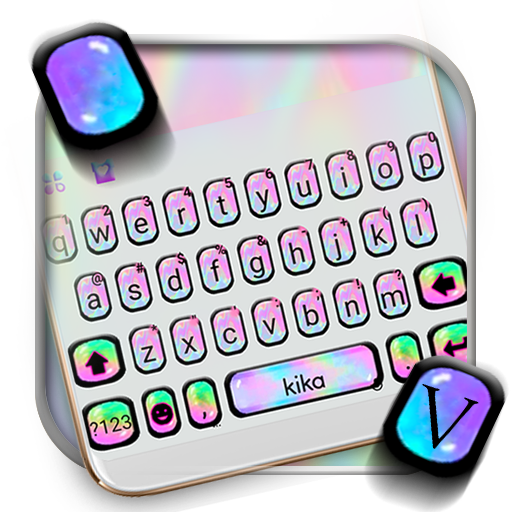 Colorful Holographic Keyboard Theme Icon