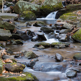 Base of Beacon Falls by Eric Goldberg - Nature Up Close Water ( waterfall, rocks )