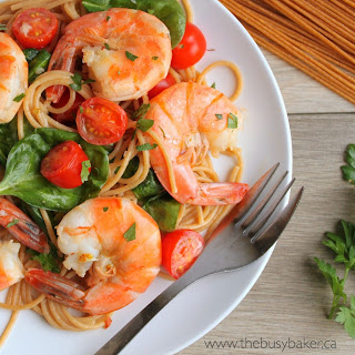 Easy Healthy Shrimp Scampi