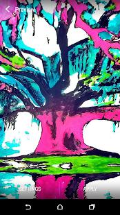 Psychedelický Živá Tapeta - náhled