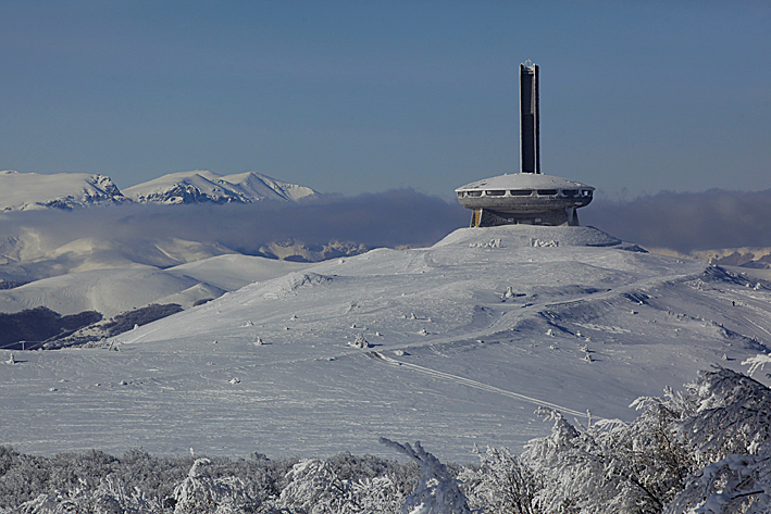 Photo: The Buzludzha Monument (Buzludja, Бузлуджа)Mount Buzludzha (1441m) Buzludzha National Park Central Balkan Mountain Range (Stara Planinia, Стара планина)BulgariaPhoto: Copyright TIMOTHY ALLENhttp://humanplanet.com