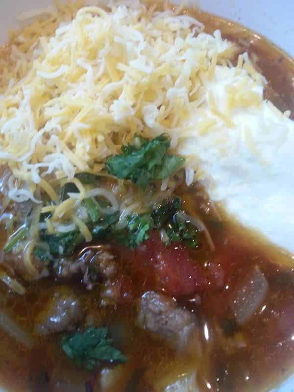 This Soup Is So Hearty And Delicious... With A Dollop Of Sour Cream, Some Shredded Cheese And Fresh Cilantro It Will Satisfy You And Your Families Taste Buds For Sure! Enjoy! :)