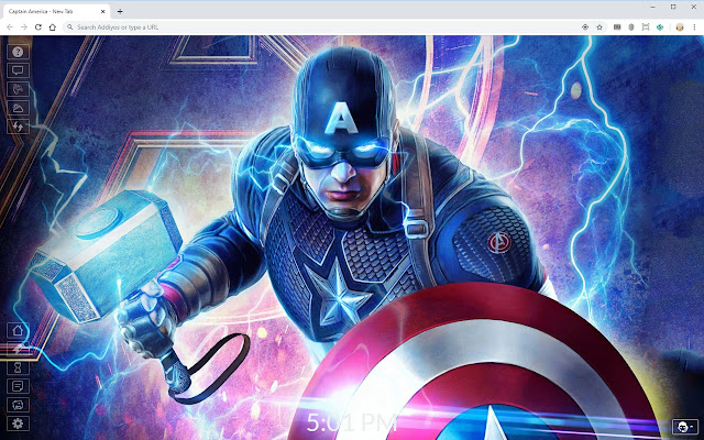 Captain America HD Wallpapers New Tab