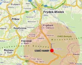 Photo: Zimní adaptační horokurz 2012. Mapa místa pobytu.