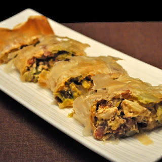 Bacon and Cabbage Strudel