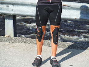 Photo: Day 53 August 10 Bennington  To Brattleboro VT: Whose knees are those?