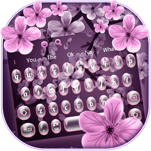 Pink Peach Blossom Keyboard