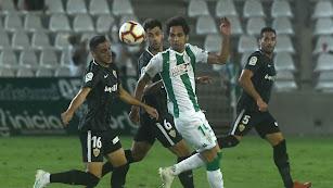 Sergio Aguza en el partido de la primera vuelta.