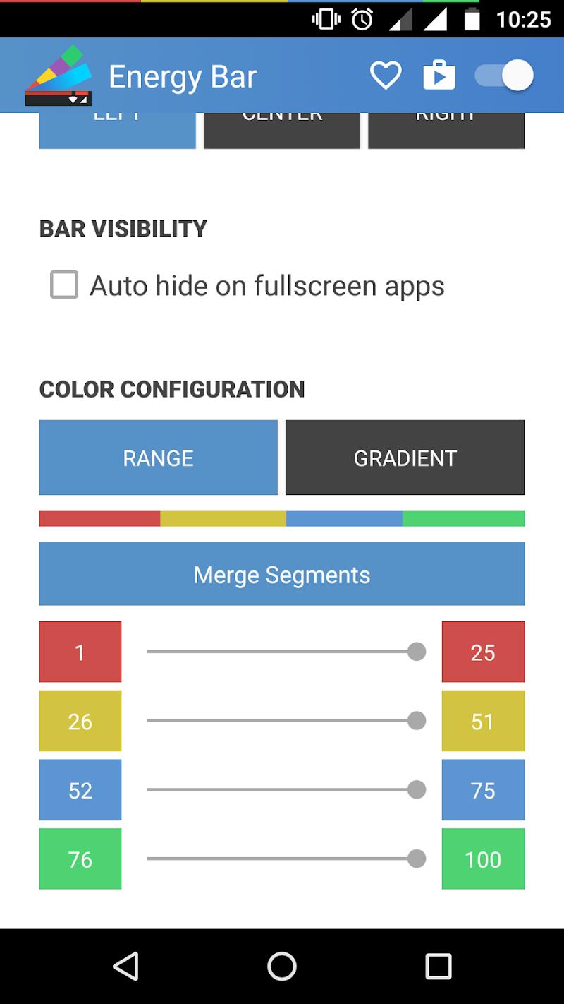 Energy Bar - A pulsating Battery indicator! Screenshot 3
