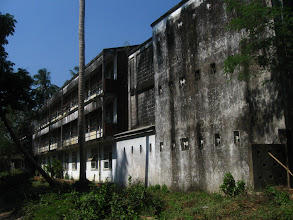 Photo: A student hostel, Yangon university - they look like abandoned for years