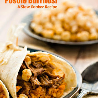 Posole Burritos! A Slow Cooker