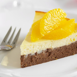 Chocolate and Orange Baked Ricotta Cake