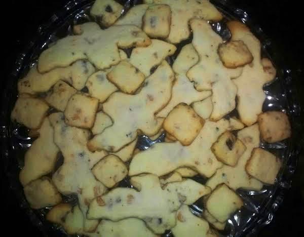 Dark Chocolate Butterscotch Shortbread Cookies