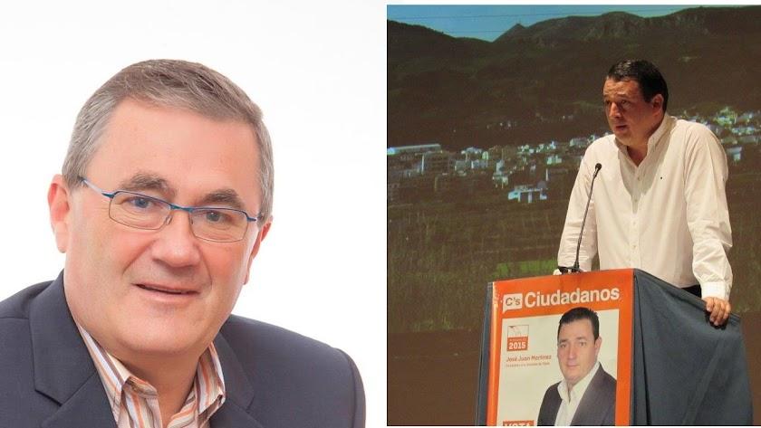 El alcalde y candidato popular (izquierda) y el candidato de Ciudadanos.