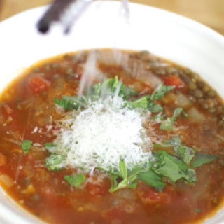 Italian Lentil And Tomato Soup.