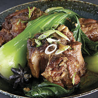 Chinese-Style Braised Oxtails with Baby Bok Choy.