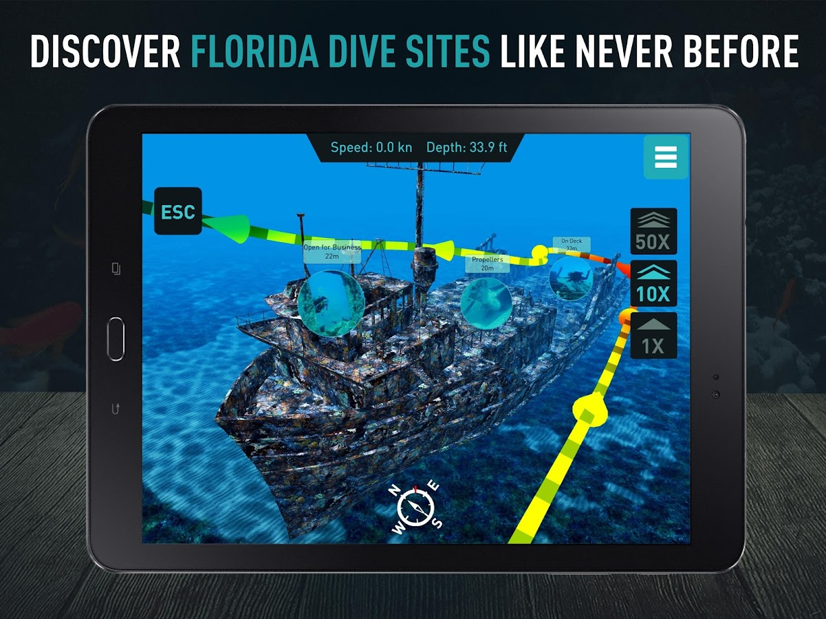 Florida Scuba by Ocean Maps- screenshot