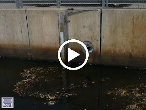 Video: Staff Gauge in the Town Brook Channel section the 'Natural Course' flows under Quincy Center, and anything over 18ft 'spills over' to the Deep Rock Tunnel