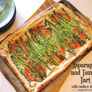 Asparagus and Tomato Tart with Cashew Ricotta
