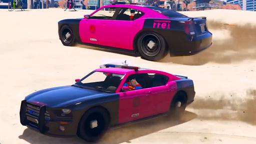 Superheroes Police Car Stunt Top Racing Games 1.0 screenshots 4