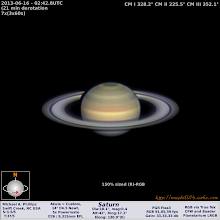 Photo: One of my best Saturn's this challenging season!  This was taken in the moments before the VSP's #hangoutathon  edition this past Saturday!